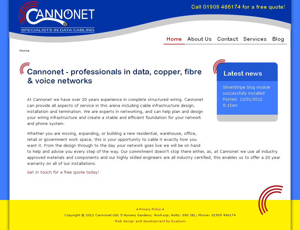 Cannonet website